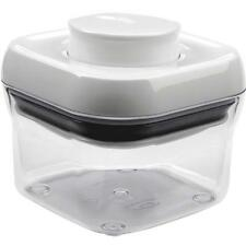 4 Pk Oxo Good Grips 9.5 Oz. Clear Square Food Storage Container With Lid 1106040