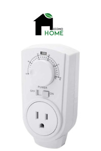 EconoHome Adjustable Thermostat - Universal Plugin Heating & Cooling Thermostat