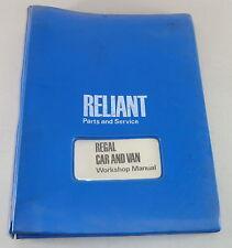 Werkstatthandbuch / Workshop Manual Reliant Regal ab Baujahr 1971