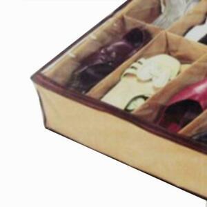 12 Pairs Shoes Storage Organizer Holder Container Under Closet Bed U6U4