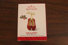 "Hallmark Keepsake Ornament ""The Wizard of Oz - Ruby Slippers"" - 2014 - Nib"