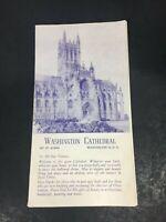 Vintage 1956 '57 Washington Cathedral Mt. St. Alban DC Souvenir Guide Booklet