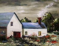 ORIGINAL Moon BARN FARM Landscape Painting JMW art John Williams Expressionism