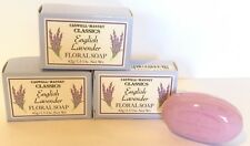 CASWELL MASSEY CLASSICS ENGLISH LAVENDER TRAVEL SIZE PURPLE FLORAL SOAP BARS