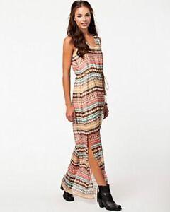New Dry Lake Olivia Ethinic Print Long Maxi Dress Multi Sz S RRP- £45.00