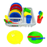 28pcs Dinnerware Set Dishes and Utensils Playset Pretend Play Kitchen Set