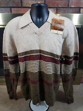 Vintage NWT's 1960's JANTZEN Scotch Tumbler Wool V Neck Sweater Mens Size XL