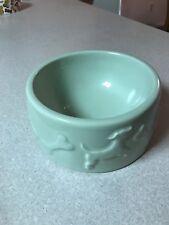 "Creature Comforts ceramic dog bowl mint green 7 1/2"""