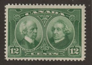 CANADA 1927 #147 Historical Issue (Laurier & Macdonald) - F MH