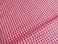 """New! Remnant Red Gingham 1'/4"""" Check Fat Quarter 50 cm x 50 cm"""