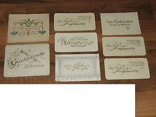 Sammlung 8 Antike Glückwunschkarten zur Konfirmation gel. und ungel. um 1900
