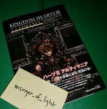Kingdom Hearts III 3 Art Book Complete ULTIMANIA Designs IN HAND | Square Enix