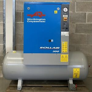 Worthington RLR300 Receiver Mounted Rotary Screw Compressor, Single Phase! 200Lt