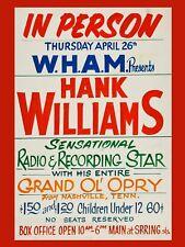"Hank Williams 16"" x 12"" Reproduction promo Poster Photo"
