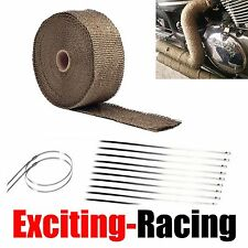 "2"" 50Ft Lava Titanium Basalt Exhaust Wrap Manifold Header Pipe Heat Wrap Tape"