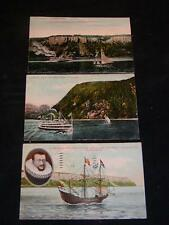 Antique POSTCARDS - SHIPS on the HUDSON RIVER, NY. c1909 era Anthony's Nose, etc