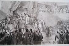 ROI CHARTE DE 1830 GRAVURE SERMENT  DEPUTES 1830 GRAVURE  1838 VERSAILLES R1591