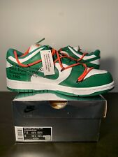 NIKE x OFF WHITE DUNK GREEN - SIZE 7.5 US (100% AUTHENTIC)