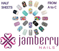 jamberry wraps half sheets * A to C * buy 3 & get 1 FREE!  NEW STOCK 10/6 !! 🎁
