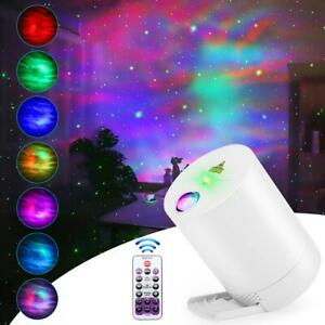 Sky Star Projector LED Night Light USB Galaxy with Remote Control Rotating Lamp