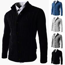 Para hombres invierno cálido Suéter Tejido Cardigan de punto abotonadura simple ...