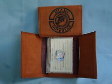 MIAMI DOLPHINS  Leather TriFold WALLET  NEW   brk