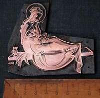 MARIA MIT JESUSKIND Galvano Druckstock Kupferklischee Druckplatte Eichenberg