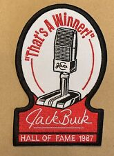 RARE Jack Buck St. Louis Cardinals HOF 87 5in. Iron  Sew On Embroidered Patch