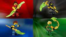Ninjago red blue green Edible Birthday Cake Topper Frosting Icing 1/4 Sheet