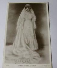 K317 - 1906 QUEEN VICTORIA of SPAIN - Portrait in Wedding Dress RP POSTCARD