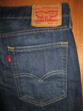 LEVIS Size 33 x 32 Straight Leg 514 100% Cotton Dark Blue Denim Jeans Mens