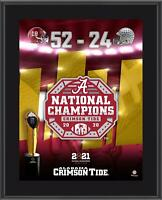 "Alabama Crimson Tide CFP 2020 National Champions 10.5"" x 13"" Sublimated Plaque"