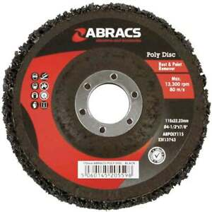 """3 x Poly Discs 115mm Removing Rust & Paint Disc for 4 1/2"""" Angle Grinder"""