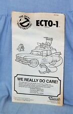 Vintage 1986 GHOSTBUSTERS - Instruction Manual for ECTO 1 - NICE!