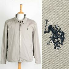 MENS U.S POLO ASSN. JACKET ZIP BOMBER CASUAL STYLE BEIGE EXTRA LARGE XL