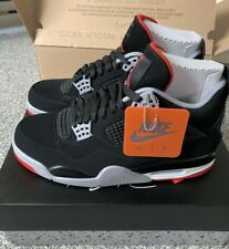 brand new fd1cc 1b2f4 2019 Nike Air Jordan 4 IV Retro OG Bred 3c-14 Black Cement Red 308497