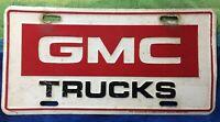 VINTAGE LICENSE PLATE - GMC TRUCKS - METAL - 4X4 - JIMMY BLAZER PICKUP DUALLY