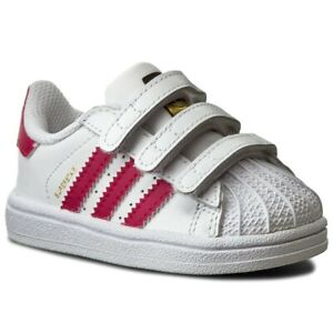SCARPE SNEAKERS ADIDAS BAMBINA SUPERSTAR FOUNDATION B23639 PELLE ORIGINAL AI NEW
