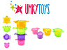 Baby Bath Toys Water Stacking Cups Bathing Bathtime Toy Water Mill Floating Cups