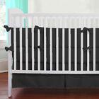 Unisex Mini Crib Bedding set 5 Pc Fitted Pillowcase Comforter Bed Skirt Bumper