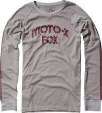 Fox Racing Hall of Fame Long Sleeve L/S Knit Shirt Grey, Medium
