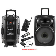 Portable PA System Unit With 2 Radio Mics Battery Or Mains 400W Speaker Cabinet