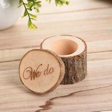 "Vintage ""we do "" Romantic Wedding Ring Holder Wood Box Storage Decor For Wedding"
