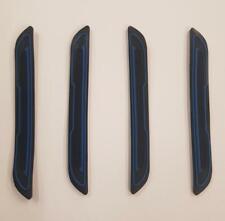 4 x Black Rubber Door Boot Guard Protectors BLUE Insert (DG5) fits MAZDA