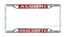 "OSU OHIO STATE UNIVERSITY ""ALUMNI"" Mirrored License Plate / Tag Frame"