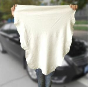 1 Wipe Car Washing Drying Natural Shammy Chamois Leather Cleaning Towels Cloth