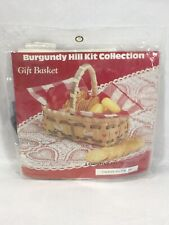 "Vintage Burgundy Hill Kit Collection ""Gift Basket"" Commonwealth MFG.Co 1988"