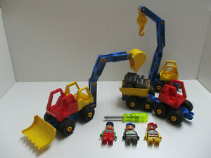 ( GB14 / 1 ) LEGO Duplo Toolo Fahrzeuge Bagger LKW Kran  Sammlung Konvolut