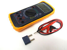 Large LCD Display Multimeter with Probes and Case