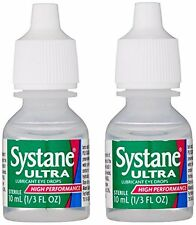 3 Pack - Systane Ultra Lubricant Eye Drops 2 count .33oz (10 ml) Bottles in Each